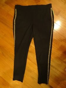 a1819fef0402d Details about     LANE BRYANT ACTIVEWEAR SIZE 26 STRETCH PANTS BEDAZZLED  BLING FITNESS YOGA