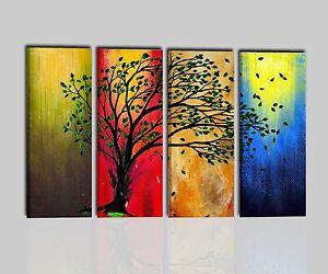 Quadri moderni astratti albero dipinti a mano olio su tela quadro