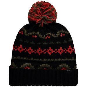O'Neill Beanie Hat BB Born To Explore Beanie Black Geometric