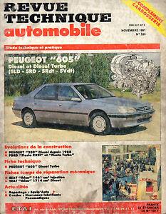 Rta Revue Technique L'expert Automobile N° 533 Peugeot 605 Sld Srd Srdt Svdt Beau Travail