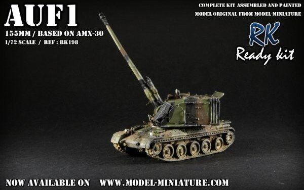 Auf-1,  french artillery, 155mm, 1 72, model-miniature ready kit  autorisation officielle