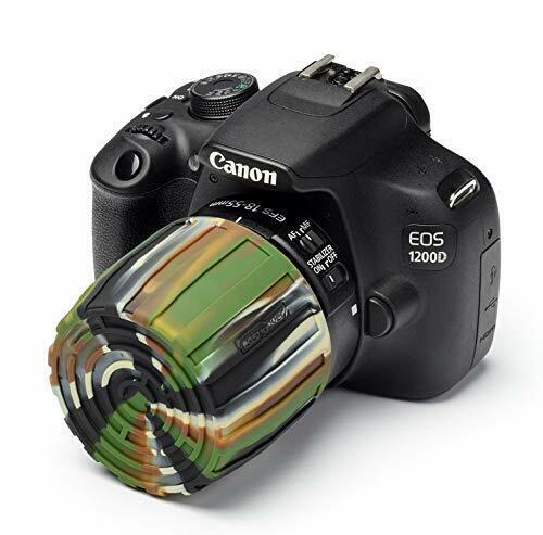 easyCover Lens Maze CAMO Universal Tough Silicone Lens Cap Cover for All Lenses