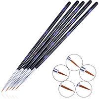 5Pcs/set Nail Art Drawing Brush Set Painting Liner Pen Wood Handle Manicure Tool