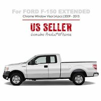 Chrome Window Sun Guard Vent Visors Tape On 4p For Ford F-150 Extended 09-13