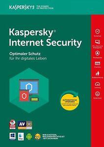 Kaspersky Internet Security 2018 2PC / Geräte 1Jahr Vollversion / auch für 2019