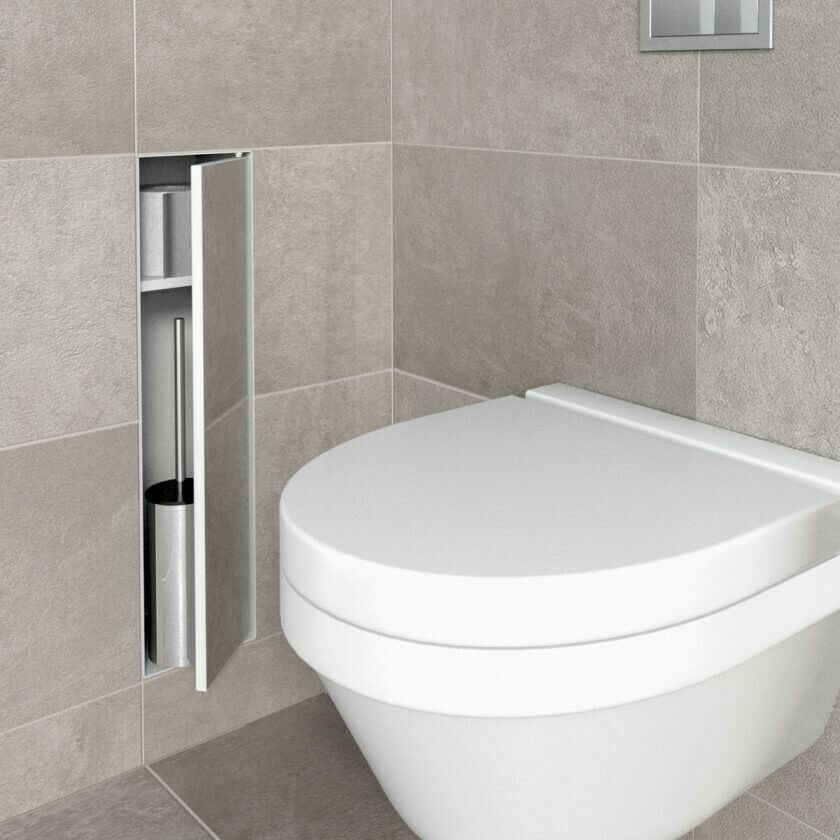 ESS Easy Drain Container T-Roll Einbau Unterputz WC Bürstenhalter anthrazit