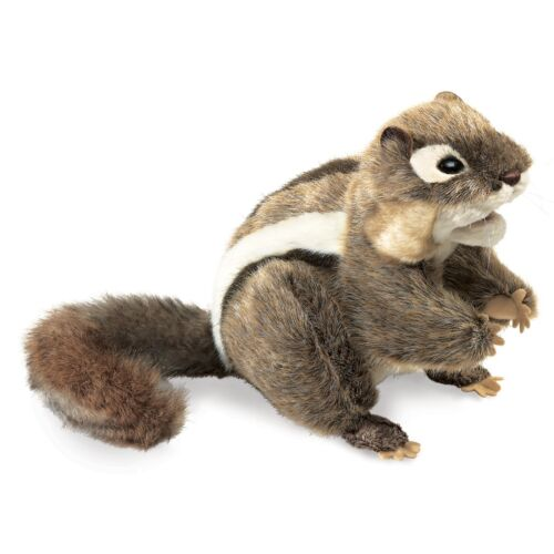 3 Yrs /& Up Eastern Chipmunk Hand Puppet with Movable Legs Folkmanis MPN 2888