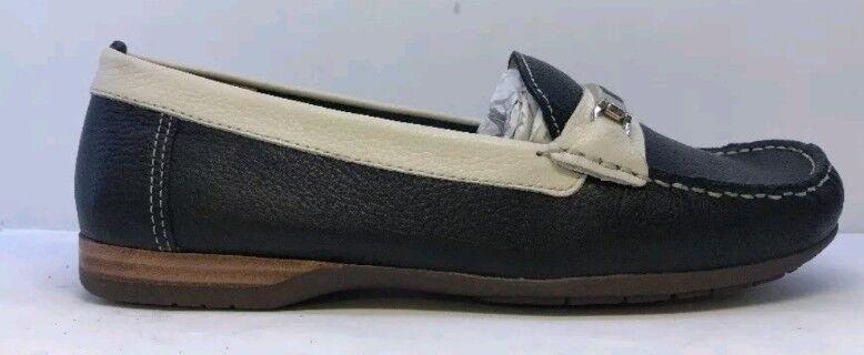 Artigiano Womens Black Cream Moccasin shoes Eu 39