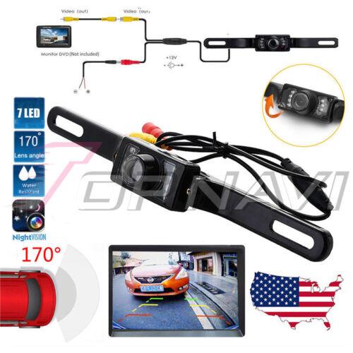 Waterproof Wide Angle License Car Rear View Monitors Backup Camera Night Vision