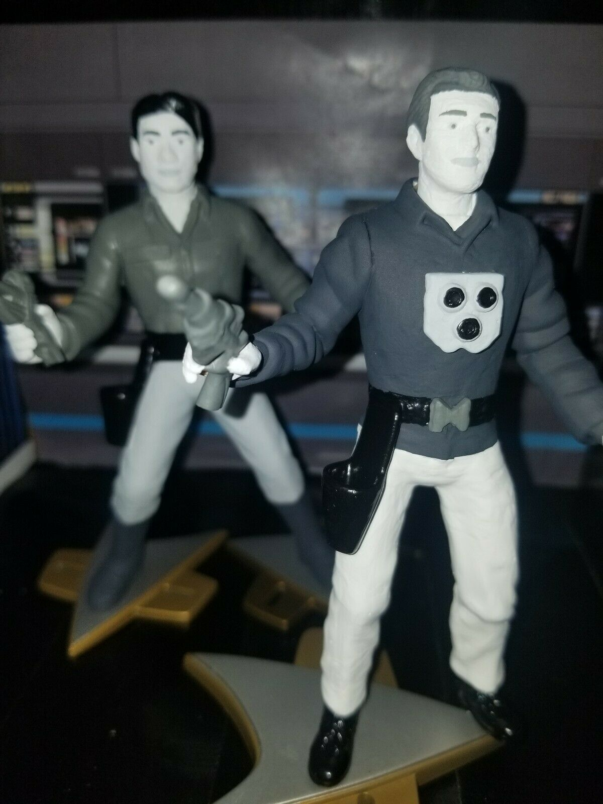 Estrella Trek   capitanes projoones  Lote 2 figuras acción personalizada Voyager hecho a pedido