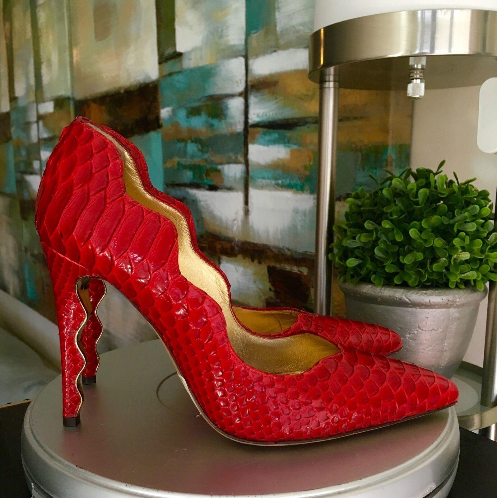 895 Alexandre Birman Classic rouge Python Pumps chaussures chaussures chaussures Taille 36 6 c03a2d
