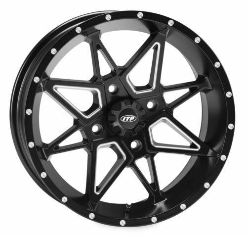 1421952727B I.T.P Tornado Ally Aluminum Wheels Matte Black 14X7 4+3 4//156