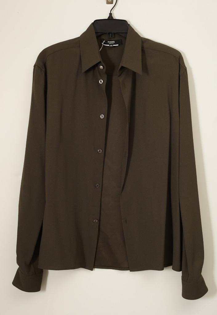 VERSUS VERSACE damen Grün Long Sleeve Button Down Blouse Shirt Top 38 NEW