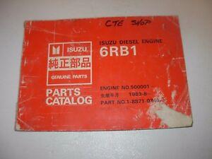 isuzu 6rb1 diesel engine parts manual s n 500001 up ebay rh ebay com 2002 Isuzu Trooper 2002 Isuzu Trooper