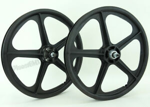 Skyway-20-034-TUFF-WHEELS-II-old-school-bmx-sealed-Mags-BLACK-Made-in-the-USA-Retro