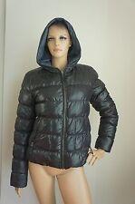 LIU JEANS by LIU-JO Black Reversable Hooded Puffer Coat Jacket Sz IT46/US6-8/S-M
