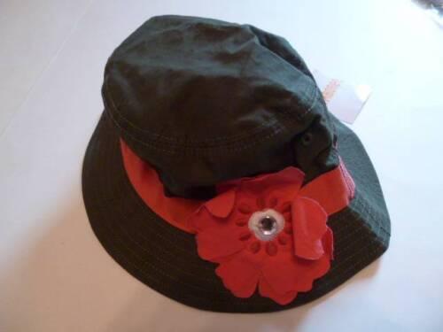 Gymboree Friendship Camp Olive Green Hat//Cap w//Pink Flower 3-4 5-7 8 /& Up NEW