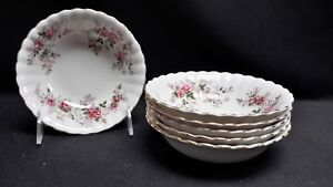 Royal-Albert-England-Bone-China-Lavender-Rose-Set-of-6-Fruit-Dessert-Bowls