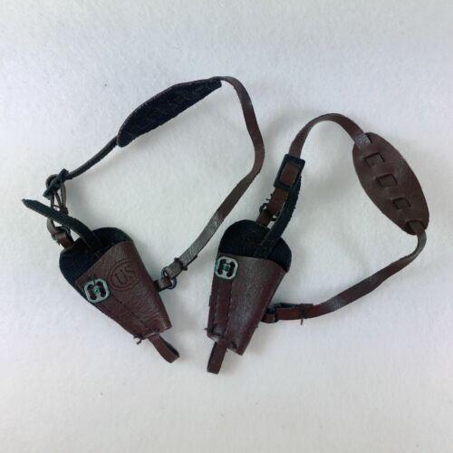LOTTO di 2pcs 1//6 SCALA Hottoys Marrone PISTOLA FONDINA arma accessori