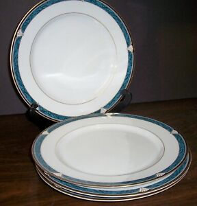 LOT-OF-4-GORHAM-EDGEMONT-GOLD-DINNER-PLATES-11-034-NEVER-USED-FREE-U-S-SHIPPING