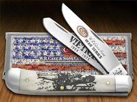 Case Xx War Series Vietnam Natural Bone Trapper Stainless Pocket Knives Knife on sale
