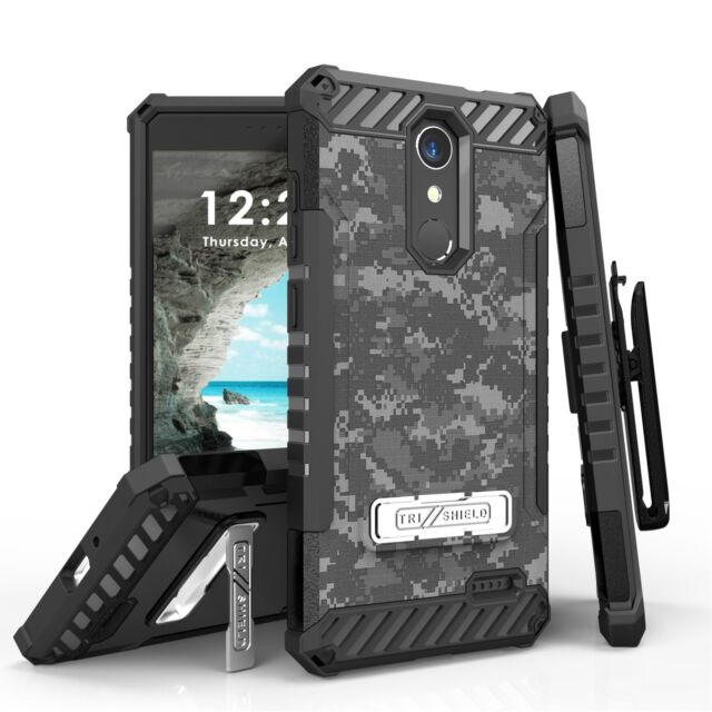 best sneakers ecb6c d238b for ZTE Blade Spark / ZMAX One/grand X4 Tri Shield Hybrid Case ACU Digital  Camo