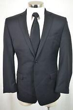 (38S) Calvin Klein Men's Black Wool MOD SLIM FIT Sport Coat Blazer Jacket