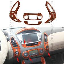 4pcs Interior Center Control Frame Cover Trim For Hyundai Tucson ix35 2010-2014