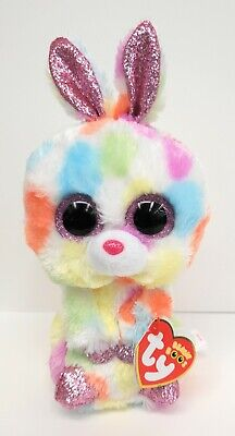 "/& DAFFODIL Bunny Lamb Ty Beanie Boos Easter Set of 2 ~ BLOOMY 6/"" NEW MWMT"
