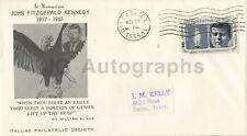 John F. Kennedy - Vintage Postal Cover - Canceled Dallas, TX Nov 22, 1964