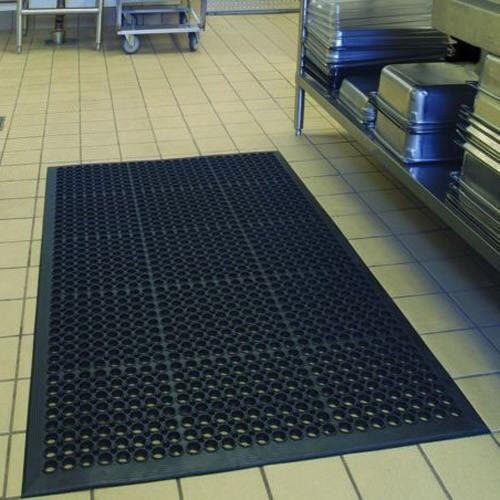 "US 59/""x36/"" Black Anti-Fatigue Restaurant Kitchen Commercial Industrial Floor Mat"