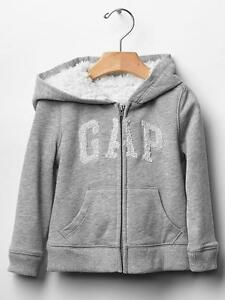 cbbd7e5ba7d0 NWT GAP Sherpa Lined Cozy Arch Logo Zip Hoodie Sweatshirt Heather ...
