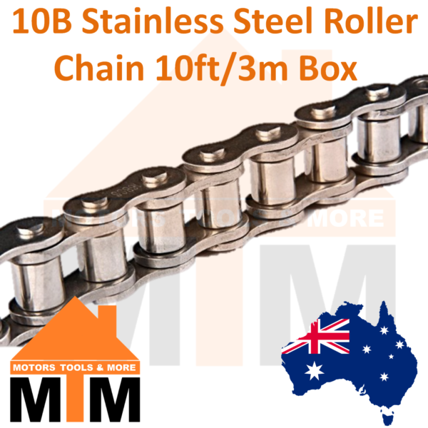 """INDUSTRIAL ROLLER CHAIN  16B-1-1/"""" PITCH BOX OF 10 FEET"""