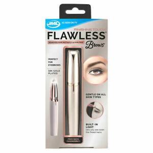 JML-Finishing-Touch-Flawless-Brows-Eyebrow-Pen-Epilator-Hair-Trimmer-18k-Gold