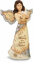 Elements Beloved Father Angel Figurine By Pavilion, 5-inch, Holding Dove, Inscri on sale