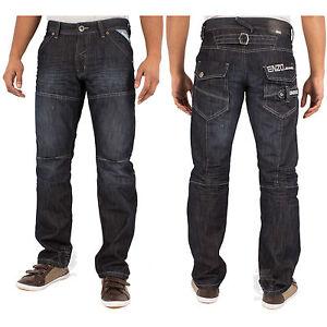 Hombre-Enzo-by-ETO-EZ-244-Pantalones-vaqueros-modernos-Estandar-Corte-Normal