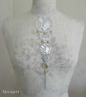 Vintage Danish Pilgrim Statement Necklace Oriental Silver/caramel Quartz