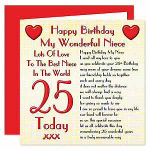My Wonderful Niece Lots Of Love Happy Birthday Card Age Range 16