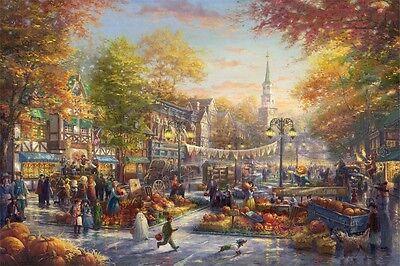 "Jigsaw Puzzles 1000 Pieces ""Pumpkin Festival"" / Thomas Kinkade"