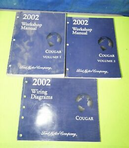 details about 2002 mercury cougar factory service shop manual set wiring diagrams book 1970 mustang wiring diagram free 2002 mercury cougar wiring diagram #15