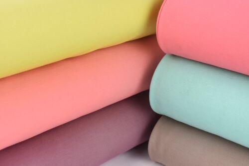 Viskosejersey Jerseystoff Punta di Roma einfarbig mint 1,4m Breite