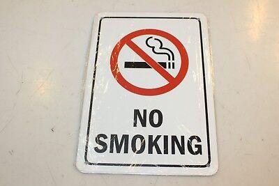 ''no Smoking'' Warning Sign, Metal, 10''x7'', New En Om Een Lang Leven Te Hebben.