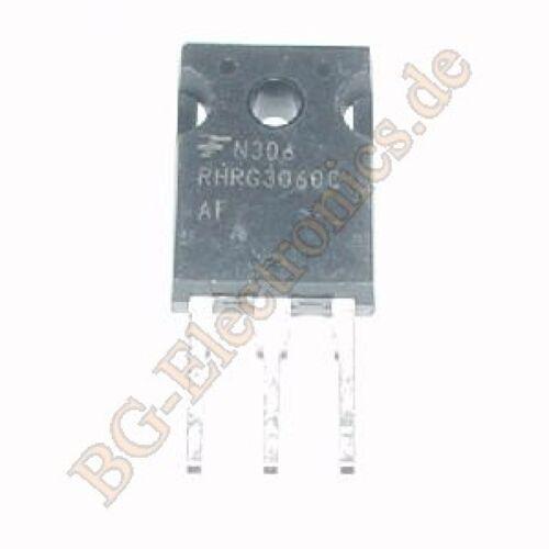 1 x RHRG3060CC Doppel-Diode für Schaltnetzteile 125W  Fairchild TO-247 1pcs