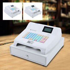 Electronic Cash Register Pos 8 Digital Led Display With Drawer Box Bar Clubs