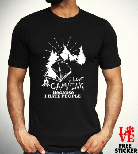 I Love Camping T Shirt Funny Rude Tee Holiday Fashion Novelty Wild Mens Gift Top