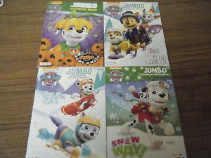 Lot Of 4 Paw Patrol Jumbo Coloring Activity Book Nickelodeon Christmas Halloween Ebay