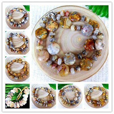 BB3168 6PCS 20x6mm Beautiful heart Crazy Lace Agate Pendant bead