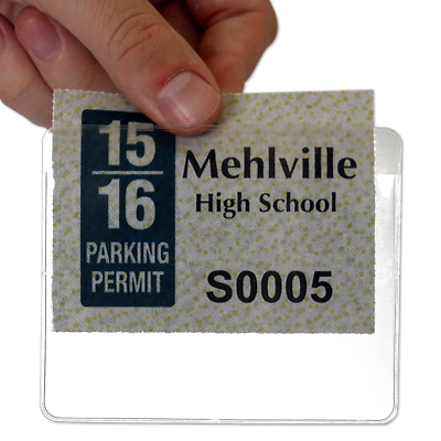 2 x Self Adhesive Backed Windscreen Ticket Holder for Parking Permit 100 x 100mm