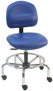 NEW BenchPro ESD Anti Static VINYL Chair - Chrome Base