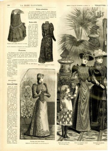 French MODE ILLUSTREE SEWING PATTERN December 7,1890